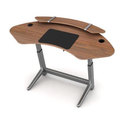 Sphere U-Shape Standing Desk Color: Black Walnut