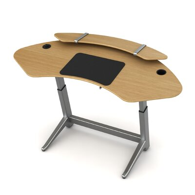 Sphere U-Shape Standing Desk Color: White Oak