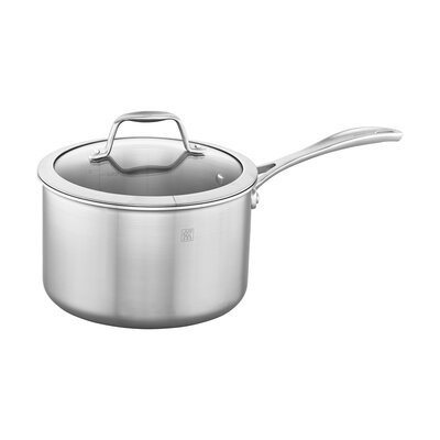 Spirit 3-Ply Stainless Steel Sauce Pan with Lid Size - Capacity (Quarts): 4 qt.