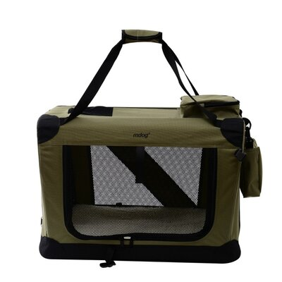 """Portable Soft Pet Crate Size: Extra Extra Large (27"""" H x 27"""" W x 40"""" L), Color: Sand"""