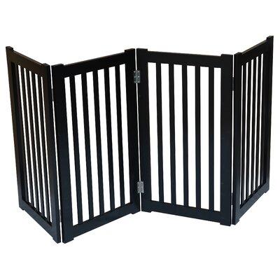 4 Panel Free Standing Pet Gate Finish: Black