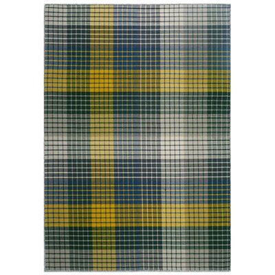 Green Decore Urbane Plaid Hand-Woven Multi-Coloured Area Rug