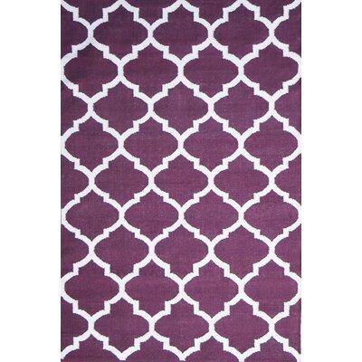 Green Decore Natura Hand-Woven Purple Area Rug