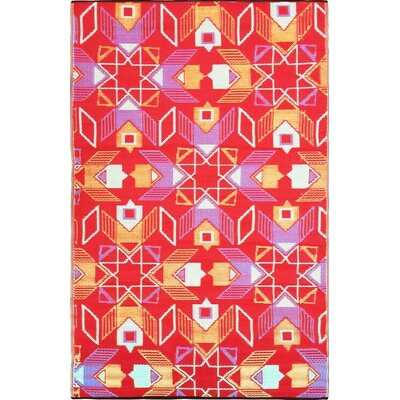 Green Decore Geometric Red/Blue Indoor/Outdoor Area Rug
