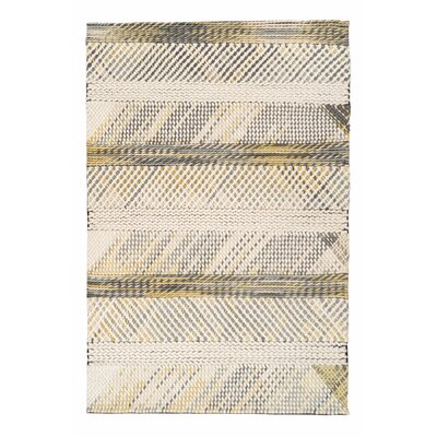 Green Decore Genesis Hand-Woven Ivory/Yellow Area Rug