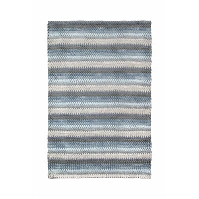 Green Decore Soft Stripes Hand-Woven Blue/Grey Area Rug