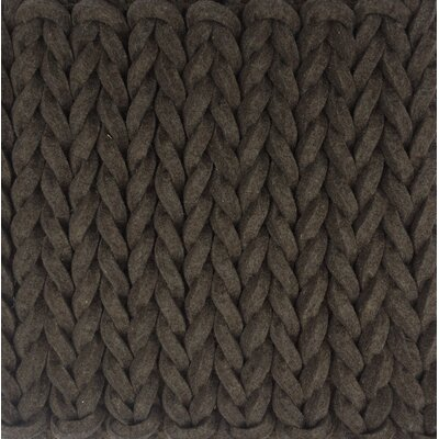 Green Decore Tresse Hand-Woven Chocolate Area Rug