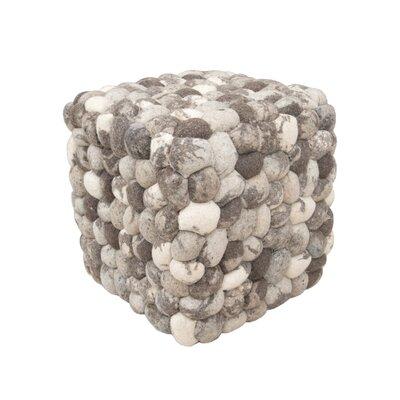 Green Decore Stone Pouffe