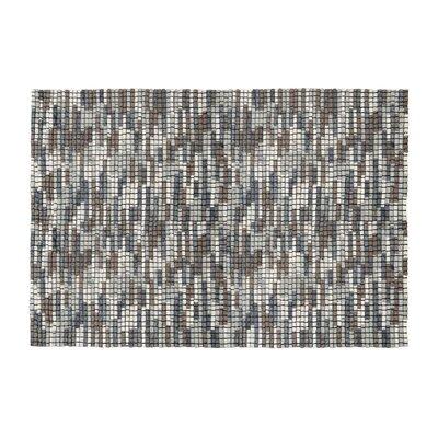 Green Decore Bricks Hand-Woven Grey Area Rug