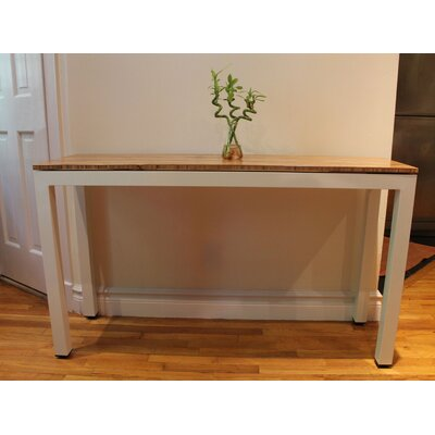 Sustain Console Table Frame Finish: White, Top Finish: Havana