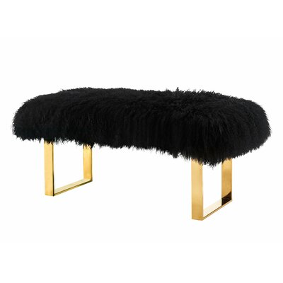 Sheepskin Bench Color: Black