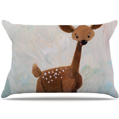 KESS InHouse Oh Deer Pillowcase