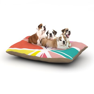 "Belinda Gillies 'Boldly Bright' Dog Pillow with Fleece Cozy Top Size: Small (40"" W x 30"" D x 8"" H)"