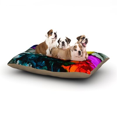 """Claire Day 'Hippie Love Child' Dog Pillow with Fleece Cozy Top Size: Small (40"""" W x 30"""" D x 8"""" H)"""