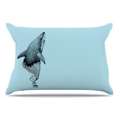 KESS InHouse Shark Record II Pillowcase