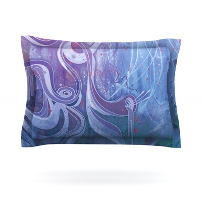 Electric Dreams II by Mat Miller Featherweight Pillow Sham Size: King, Fabric: Cotton