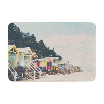 Laura Evans Small Spaces Beach Coastal Memory Foam Bath Rug