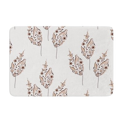 Louise Pattern Flower Memory Foam Bath Rug
