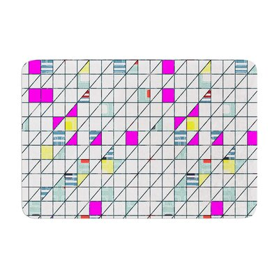 Michelle Drew Squares Abstract Geometry Memory Foam Bath Rug