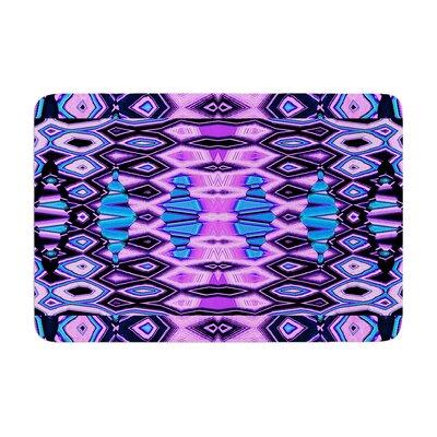 Nina May Deztecca Lilac Memory Foam Bath Rug Color: Purple/Blue