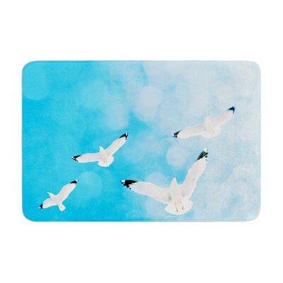 Robin Dickinson Fly Free Birds Sky Memory Foam Bath Rug