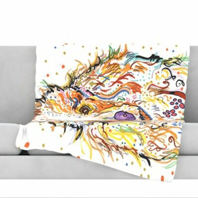 KESS InHouse Lily Fleece Throw Blanket
