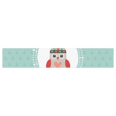 """Daisy Beatrice Hipster Owlet Table Runner Size: 90"""" W x 16"""" L"""