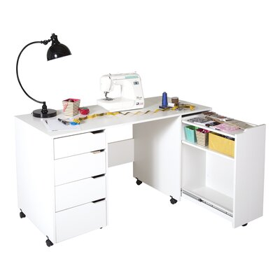 South shore crea w x d sewing table for South shore sewing craft table