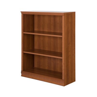 Morgan 3-Shelf Bookcase Color: Morgan Cherry