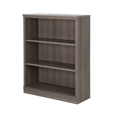 Morgan 3-Shelf Bookcase Color: Gray Maple