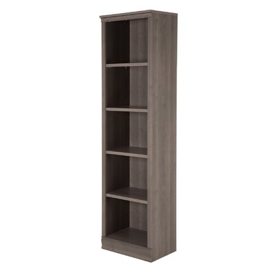 Morgan 5-Shelf Narrow Bookcase Color: Gray Maple