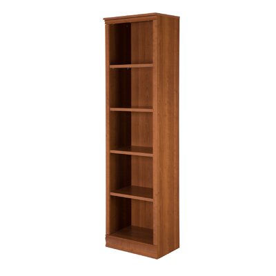 Morgan 5-Shelf Narrow Bookcase Color: Morgan Cherry