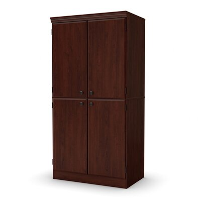 Caines 4-Door Storage Cabinet Finish: Royal Cherry