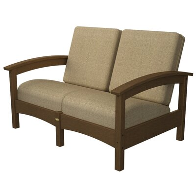 Rockport Club Deep Seating Sofa with Cushions Color: Tree House / Sesame