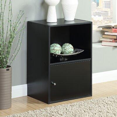 Kiley 1 Door Accent Cabinet Color: Black