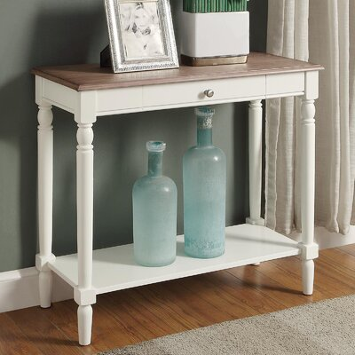 Carlisle Console Table Color: Driftwood/White