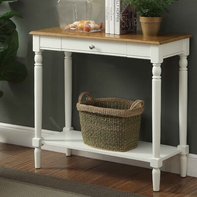 Carlisle Console Table Color: Rustic Oak/White