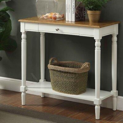 Carlisle Console Table Color: Rustic Oak/White