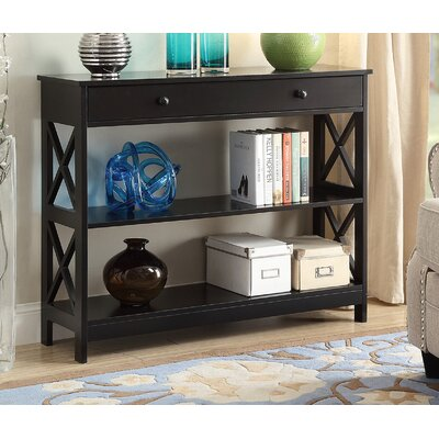 Gracelynn 1 Drawer Console Table Color: Black