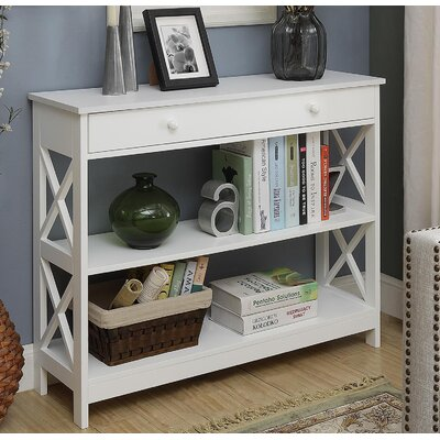 Gracelynn 1 Drawer Console Table Color: White