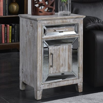 Claybrooks 1 Drawer Accent Cabinet Color: White