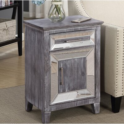 Claybrooks 1 Drawer Accent Cabinet Color: Gray