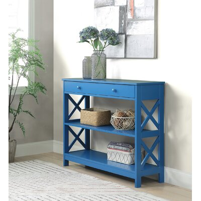 Gracelynn 1 Drawer Console Table Color: Blue