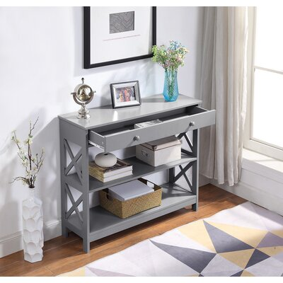 Gracelynn 1 Drawer Console Table Color: Gray