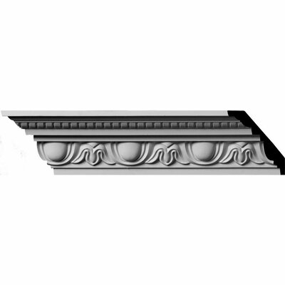 "Ekena Millwork 3 1/4""H x 96""W x 2 3/4""D Egg and Dart with Beads Crown Moulding"
