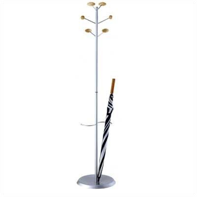 MET Coat Rack with Umbrella Stand Finish: Silver