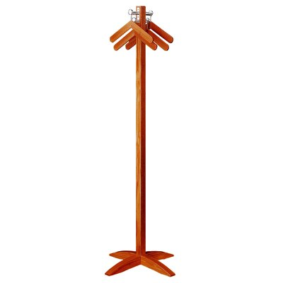 Executive Hanger Style Wood Coat Rack Base Style: Contemporary, Wood Color: Victorian Cherry
