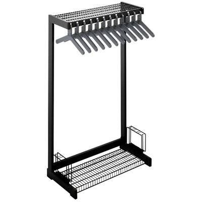 "Office Rak Floor Rack with Boot Shelf and Umbrella Holder Color: Black, Size: 48"" W"