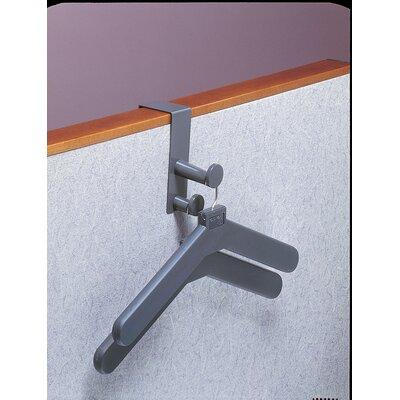Over Panel Coat Hook with 2 Hangers Finish: Charcoal Gray