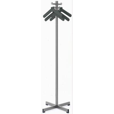 Coat Rack with 4 Hangers Color: Medium Gray